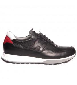 Damiani Ανδρικό δερμάτινο Sneaker 1702 Μαύρο Νεες παραλαβες