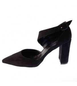Envie Block heel pumps E02-10077-34 black Γυναικεια