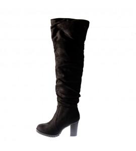 Verde Γυναικεία μπότα over the knee 28-0002939-black