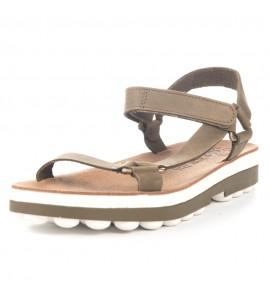 Fantasy sandals Γυναικεία πέδιλα ανατομικά s9001 brush olive Ανατομικα