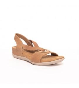 Parex Γυναικεία πέδιλα Comfort 11621022 Camel Ανατομικα